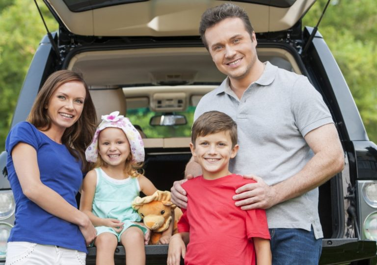 Family ready to take a roadtrip