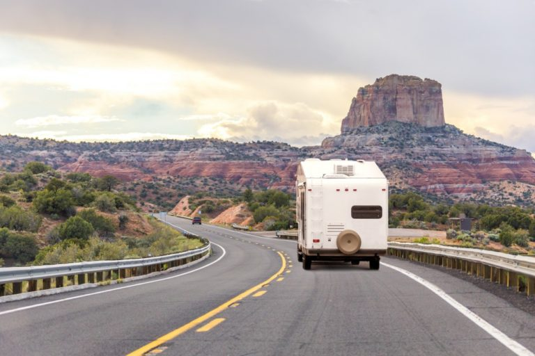 RV in a highway