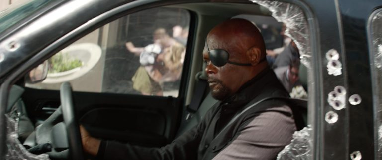 nick fury car chase scene