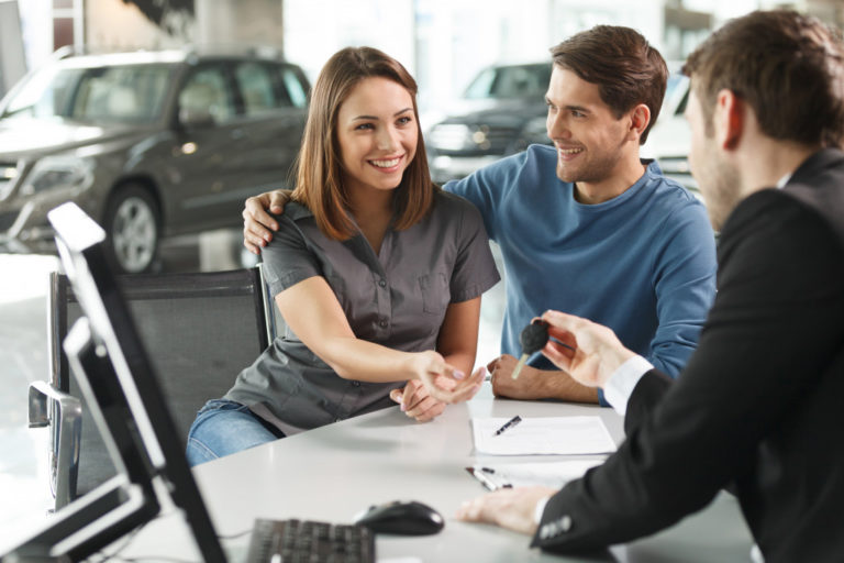 buying a car concept